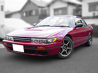 JDM STOCK NISSAN USED CARS 1989 S13 SILVIA Q'S CA18DET TURBO SWAPPED MODIFIED DRIFT ENGINE CAR  FOR SALE EXPORT FROM JAPAN TO CANADA AUSTRALIA