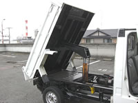 Subaru Samber Dump Mini Truck : Rear dump bed