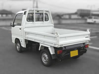 Subaru Samber Dump Mini Truck : Rear View